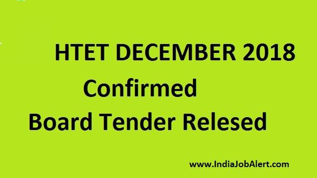 HTET will be in December 2018 Confirmed    Board Release Tender