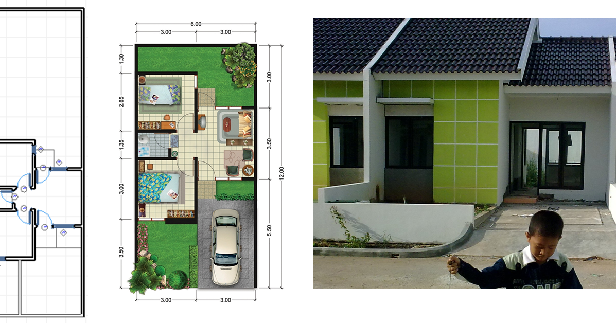Desain Rumah 6x6 Dengan 3 Kamar Tidur - Desain Terbaru ...