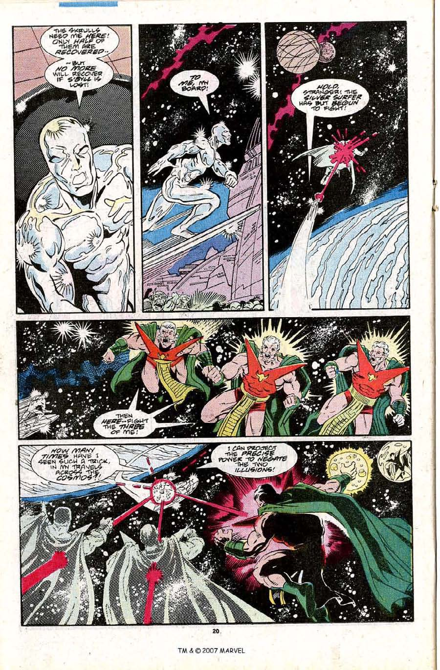 Read online Silver Surfer (1987) comic -  Issue #27 - 22