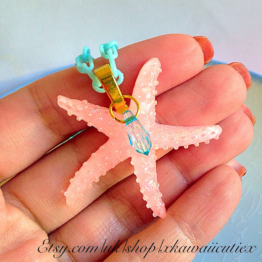 New! Mermaid Starfish Necklace