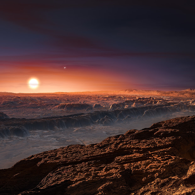 A view of the planet orbiting Proxima Centauri