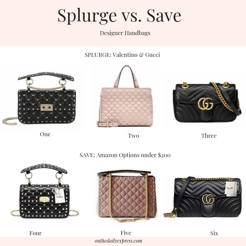 20b6c8ba57a1 This time I've got some Valentino and Gucci inspired handbags. If you don't  have a few thousand dollars to splurge on a handbag, no problem, ...