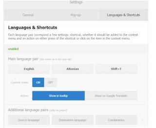 Pengaturan Bahasa di Instant Translate