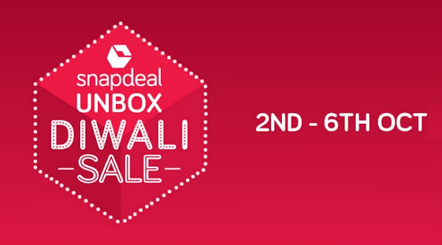 Snapdeal Unbox Diwali Sale 2nd to 6th October, 2016