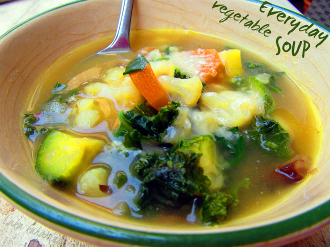 Everyday vegetable soup by Laka kuharica. soup made with any combination of fresh or frozen vegetables.