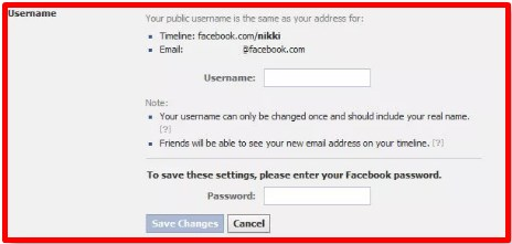 how to change your facebook url