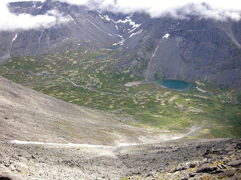 Вид на долину М.Белой с горы Юдычвумчорр