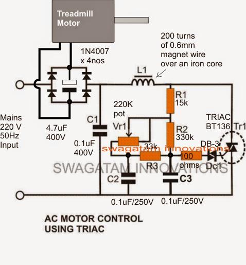 Treadmill Motor Speed Controller Circuit