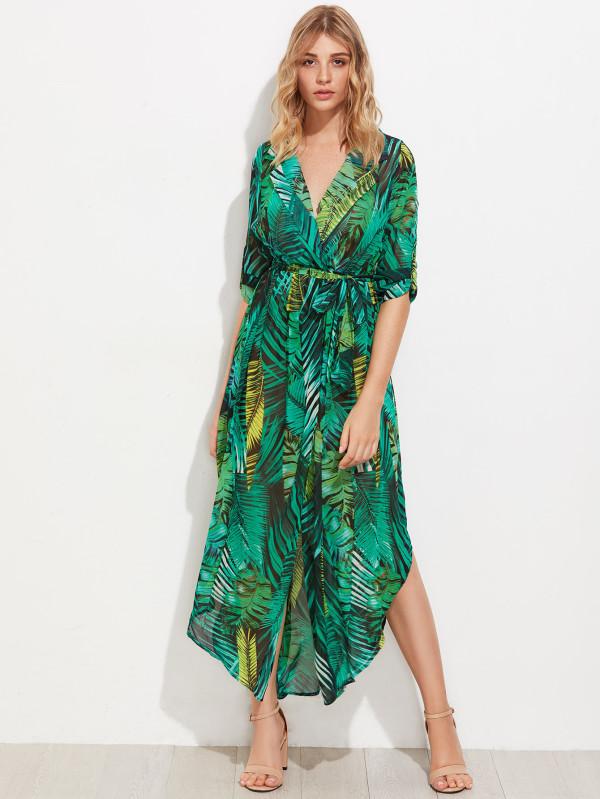 vestido de palmeras