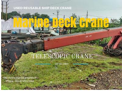 5 Tons crane, telescopic, marine, deck crane, provisional crane, ship crane, boat crane, hydraulic crane, boom crane