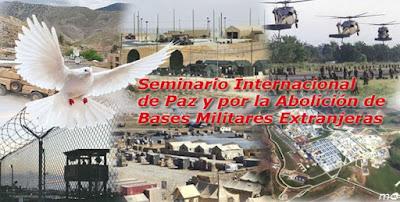 V Seminario Internacional de Paz y  por la Abolición de las Bases Militares Extranjeras.