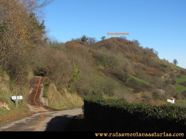 Area Buyera, picos Grandamiana y Plantón: Camino al Grandamiana