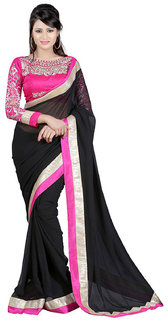Best Selling Chiffon Embroidered Sarees With Blouse