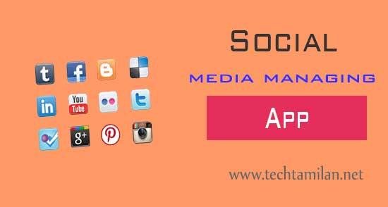 social media managing apps