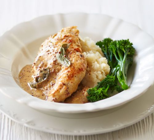 Chicken some facts and recipe ideas - Page 2 Mustard-sage-chicken-celeriac-mash