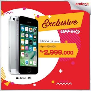 iPhone 5S (16GB) Harga Spesial Rp 2.999.000 di Erafone stores