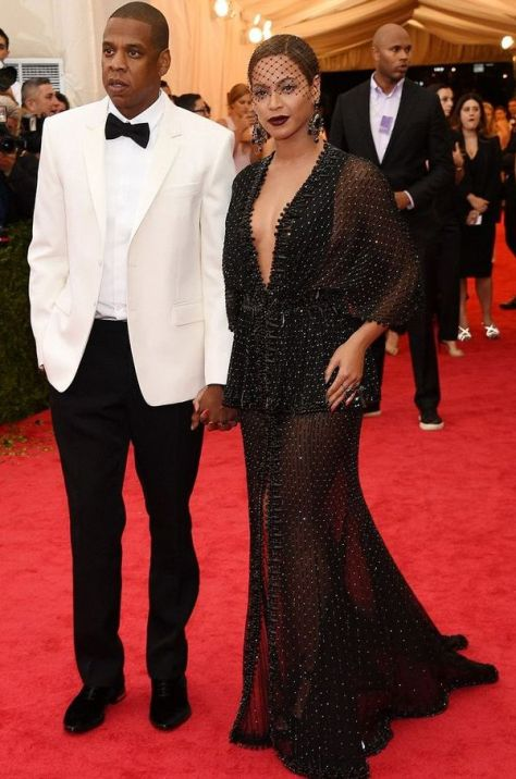 Beyonce and husband, Jay Z at the Met Gala 2014
