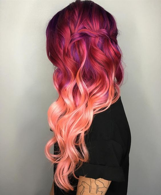 Adorable Colored Hair Styles for Rainbow Lovers
