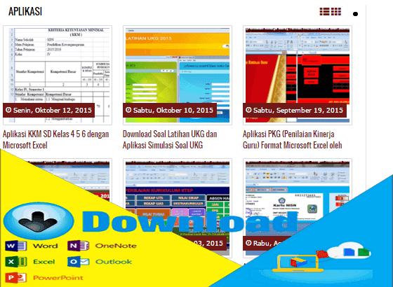 Kumpulan Aplikasi Sekolah dengan Microsoft Excel Lengkap