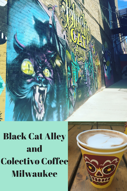 Colectivo Coffee and Black Cat Alley in Milwaukee
