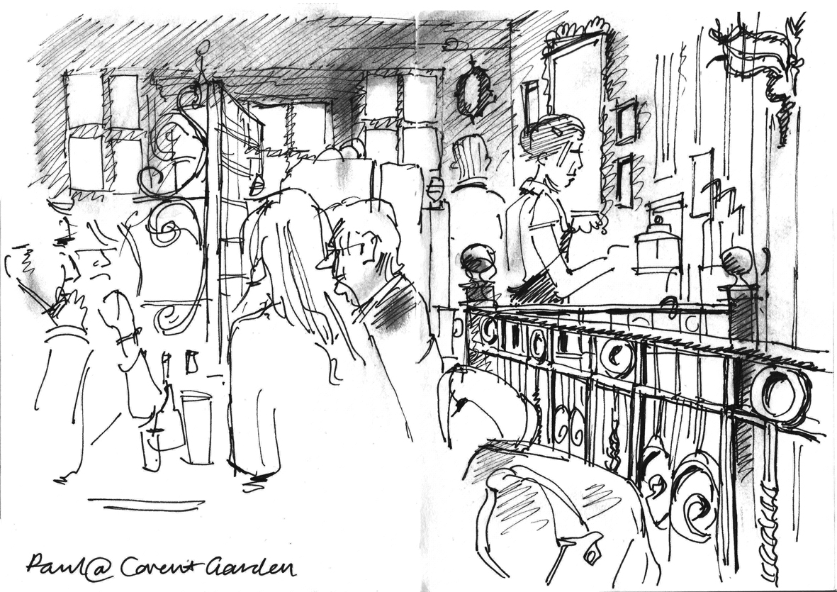 lineandwash: Covent Garden cafe