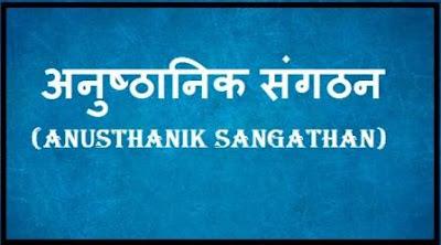 Anusthanik Sangathan,  Anusthanik Sangathan ki Viseshta