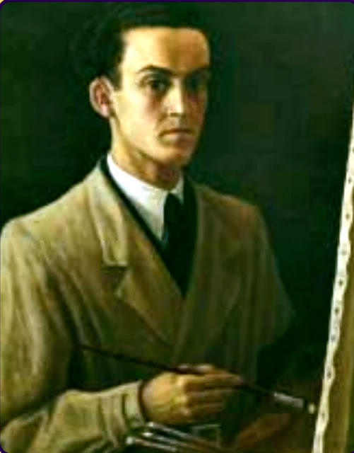 Horacio Ferrer de Morgado, Self Portrait, Portraits of Painters, Fine arts, Portraits of painters blog, Paintings of Horacio Ferrer de Morgado, PainterHoracio Ferrer de Morgado