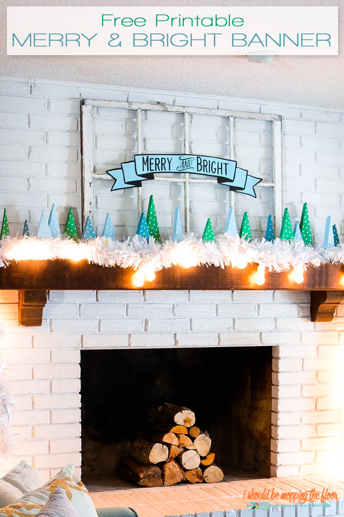 This Merry and Bright free printable Christmas banner is available in two sizes and two colors. It's perfect for your holiday decor.