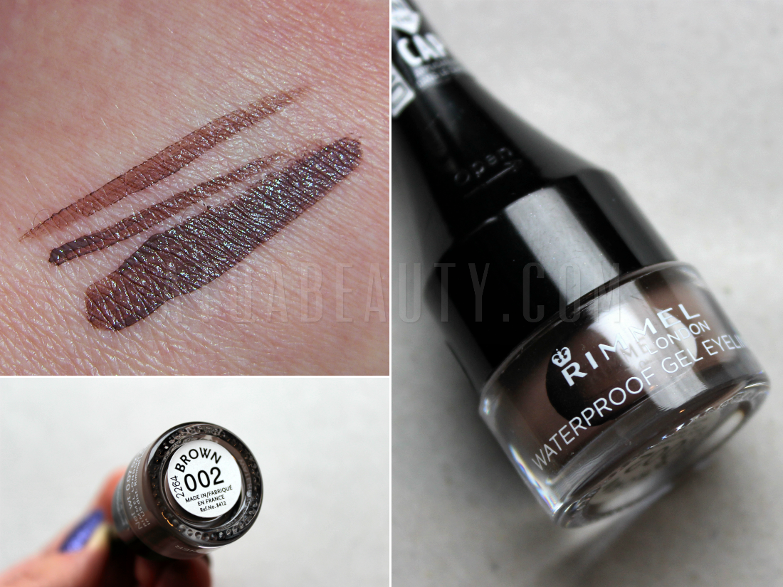 Rimmel, Waterproof Gel Eyeliner, 002 Brown