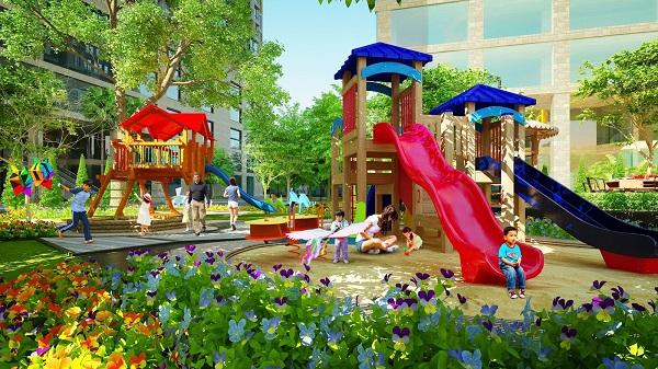 Khuôn viên vui chơi cộng đồng cho trẻ em tại Gelexia Riverside