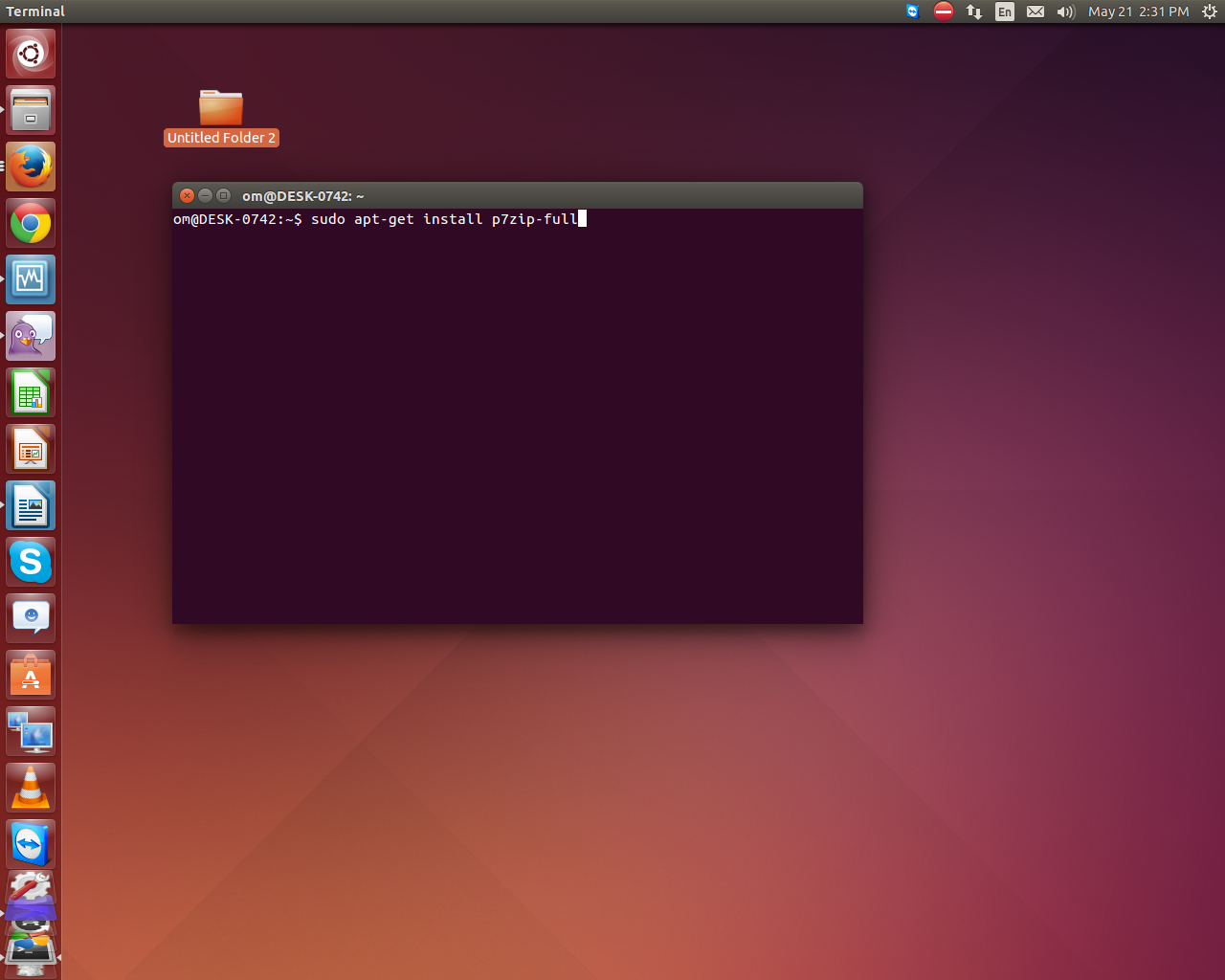 Extract RAR files in Ubuntu / /