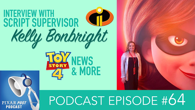 Kelly Bonbright Pixar podcast Interview