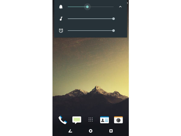 How to control Android devices volume by swiping on screen