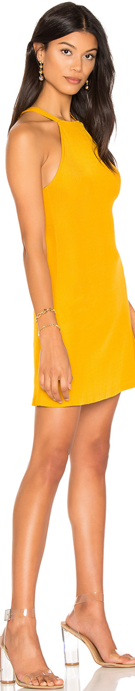 H:OURS CECE DRESS IN MARIGOLD