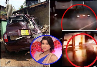 Actress Kavisha Ayeshani Accident in Nugegoda CCTV