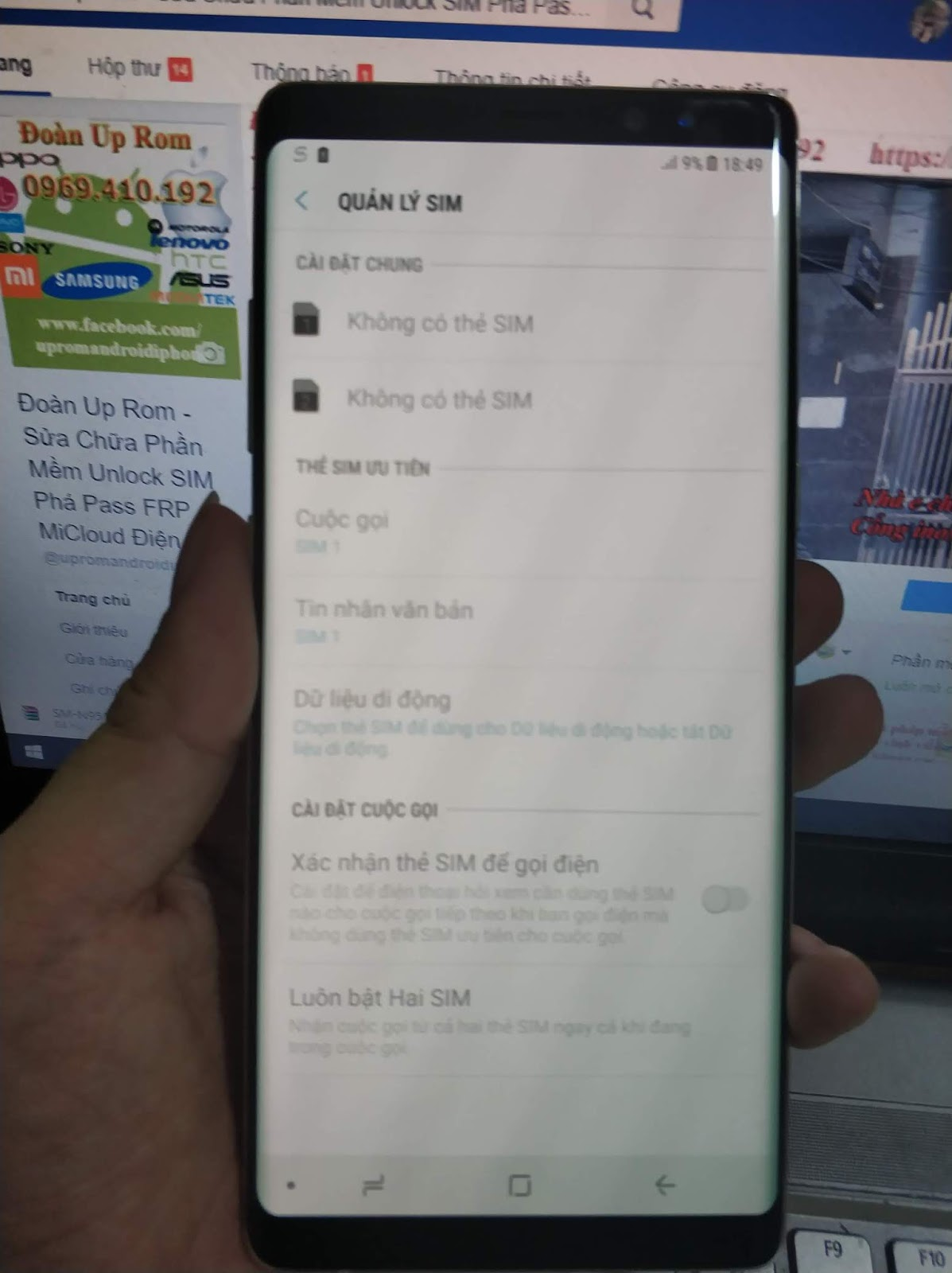 Thêm 1 Note 8 hàn N950N bản SKC (bản khó read cert nhất) độ lên 2