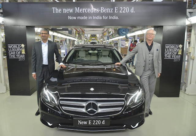 Mercedes-Benz introduces the 'World Luxury Car of the Year' in its new guise; launches the 'Made in India' Long Wheelbase E-Class 220 d