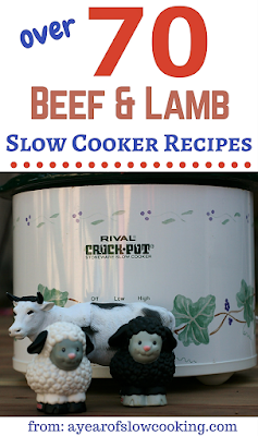 Beef and Lamb ---- dinner time staples. Here are over 70 different ways to cook red meat in your crockpot slow cooker. From ayearofslowcooking.com