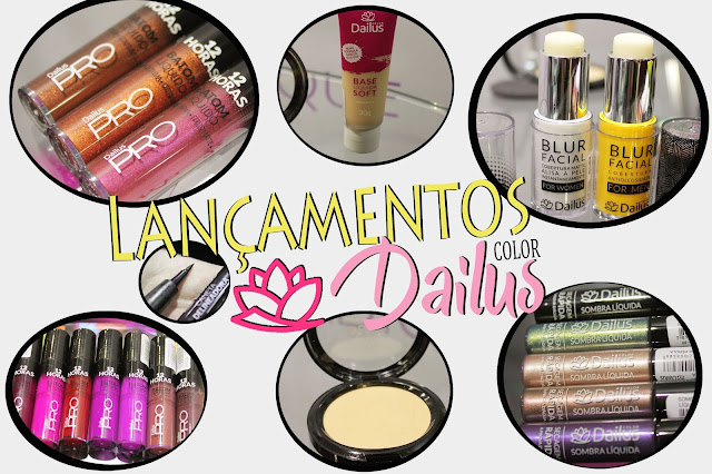 Sombras liquidas e base soft Dailus
