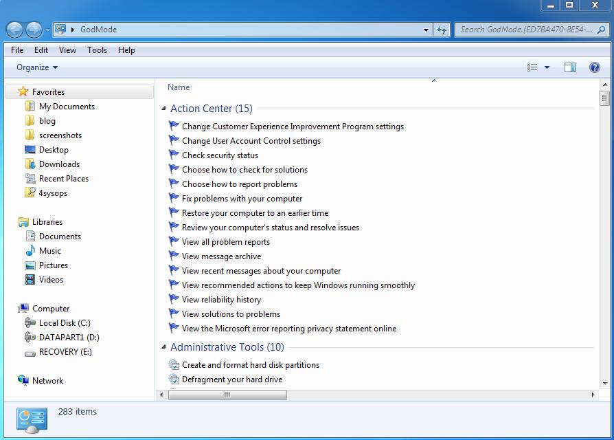 SoftFix: GodMode For Windows!!