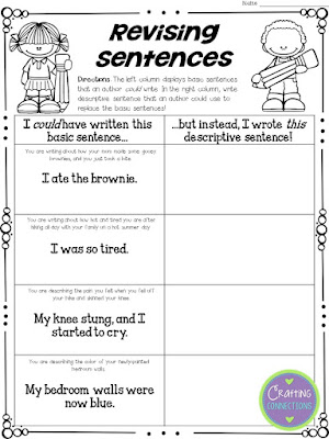 After reading Fireflies by Julie Brinckloe, have students complete these three FREE followup activities. The free writing minilesson focuses on revising sentences and word choice - Crafting Connections with Deb Hanson