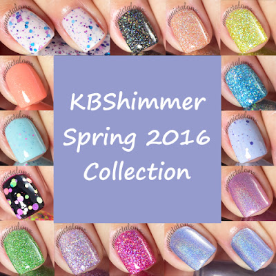 KBShimmer Spring 2016 Polish Collection