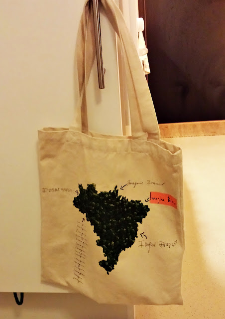 A sturdy shopping tote bag ready at the door