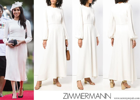 Meghan Markle wore ZIMMERMANN long sleeve dress