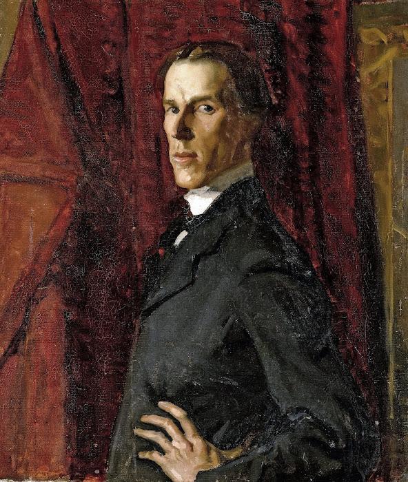 Hugh Ramsay, Self Portrait, Portraits of Painters, Fine arts, Portraits of painters blog, Paintings of Hugh Ramsay, Painter Hugh Ramsay