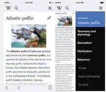 Wikipedia per iOS