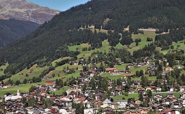 The landscape of Liechtenstein