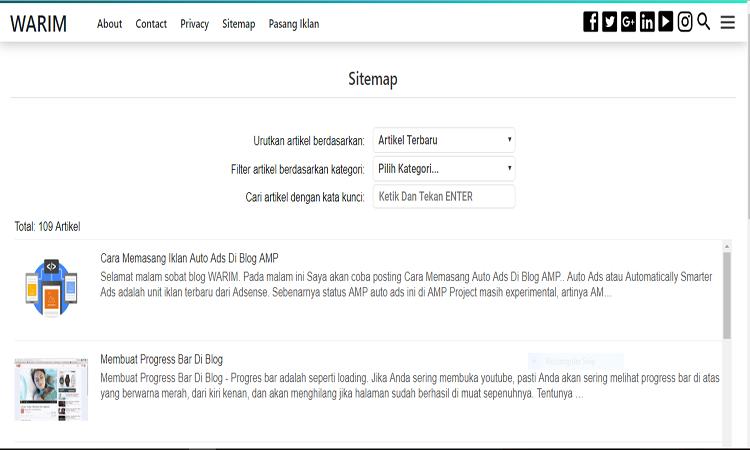 Membuat Sitemap Untuk Blog AMP HTML