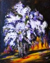 oil painting Wet lilac