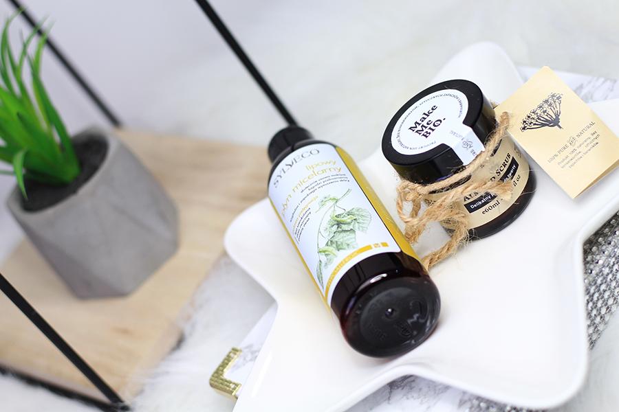 Oczyszczanie i złuszczanie | Sylveco & Make Me Bio { Lipowy płyn micelarny i Delikatny peeling migdałowy  }